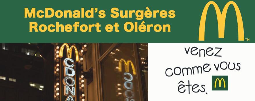 McDonald's Rochefort Surgères Dolus-d'Oléron
